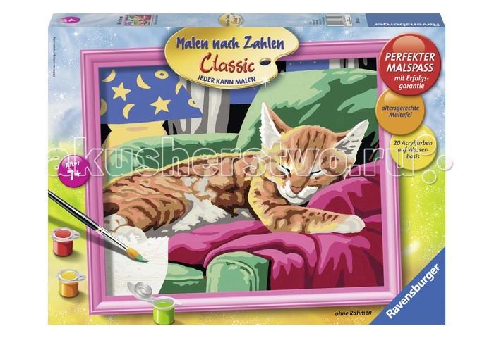 Ravensburger по номерам Спящий котенок