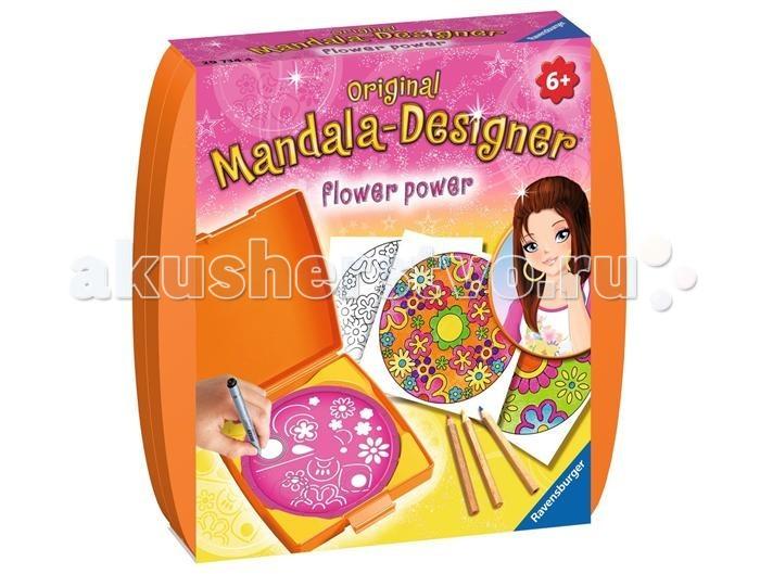 Наборы для творчества Ravensburger Мини мандала Сила цветов наборы для творчества ravensburger мандала принцессы
