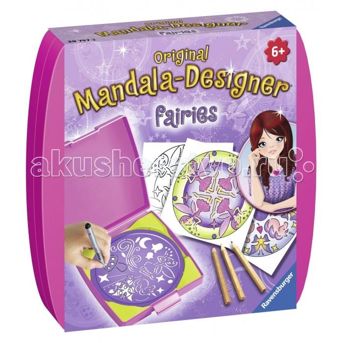 Наборы для творчества Ravensburger Мини мандала Феи наборы для творчества ravensburger мандала принцессы