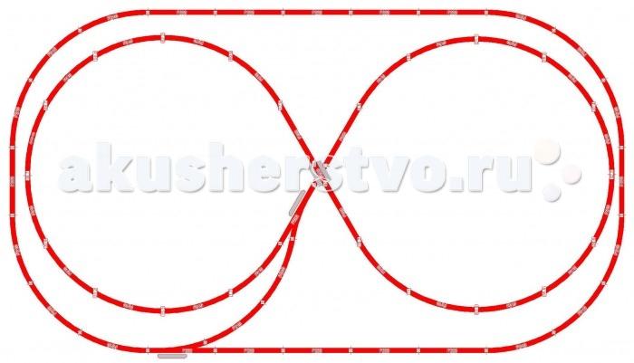 Mehano Набор рельс №6Набор рельс №6Mehano Набор рельс №6 в масштабе 1:87, ширина колеи 16,5 мм. При желании длину железнодорожного полотна, предлагаемого в стандартном наборе, можно увеличить. Это не составит особой сложности, поскольку все элементы железных дорог Mehano совместимы друг с другом. Таким образом, юный машинист сможет прокладывать различные маршруты, строить новые станции, придумывать неповторимый, свой собственный уникальный ландшафт.   В комплекте: 4 прямых участка железнодорожного полотна по 228,6 мм 19 радиальных отрезков Мост с опорами 1 радиальный отрезок с клеммами для подключения питания 2 коротких прямых отрезка (компенсаторы) 1 отдельная упаковка клипс 10 рельс прямых рельс 14 радиальных рельс 2 стрелки F282<br>