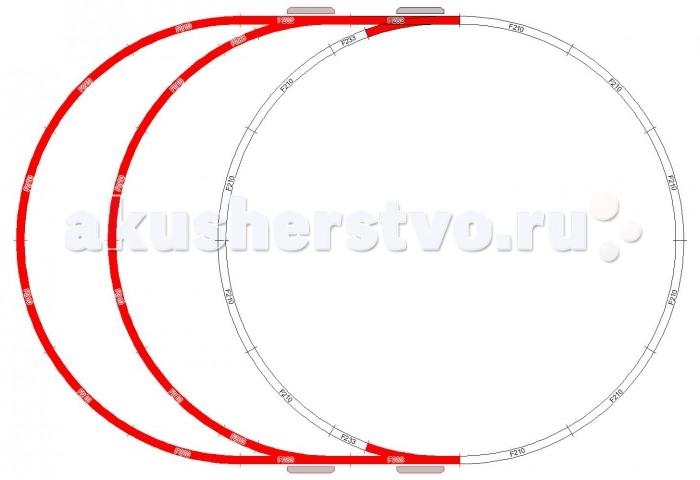 Mehano Набор рельс №9Набор рельс №9Mehano Набор рельс №9 в масштабе 1:87, ширина колеи 16,5 мм. При желании длину железнодорожного полотна, предлагаемого в стандартном наборе, можно увеличить. Это не составит особой сложности, поскольку все элементы железных дорог Mehano совместимы друг с другом. Таким образом, юный машинист сможет прокладывать различные маршруты, строить новые станции, придумывать неповторимый, свой собственный уникальный ландшафт.   В комплекте: 12 радиальных участков железнодорожного полотна 4 коротких радиальных отрезка (компенсаторы) 2 стрелки левые (с ручным переключением) 2 стрелки правые (с ручным переключением) 24 клипс-соединителей.<br>