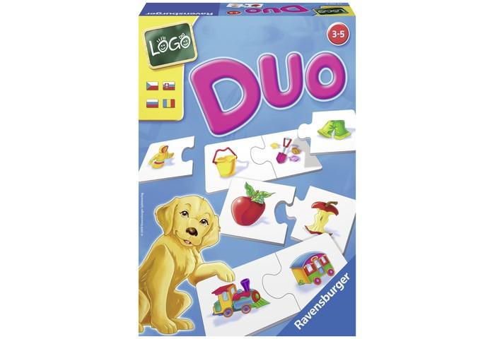 Игры для малышей Ravensburger Настольная игра Лого Дуо игра настольная ловкие пальчики
