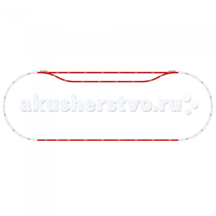 Железные дороги Mehano Набор рельс №10 игрушка mehano 1 f101 набор рельс