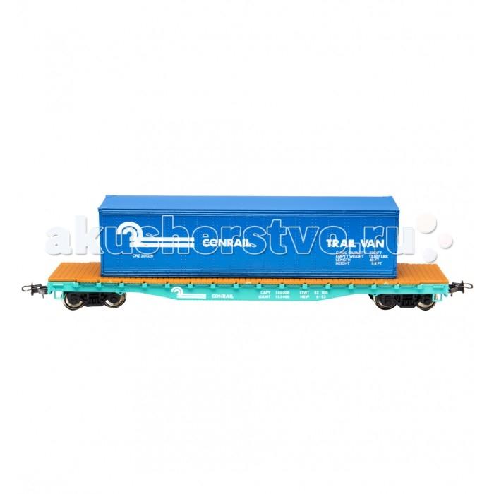 Железные дороги Mehano Вагон-платформа со съемным контейнером Conrail железные дороги mehano вагон рудовоз conrail