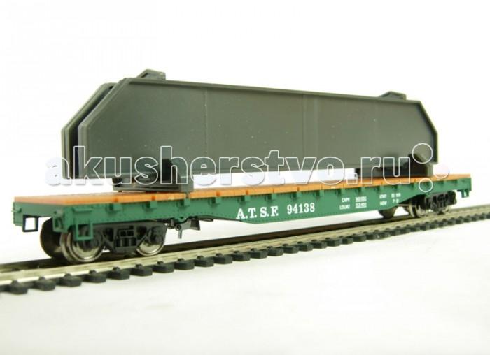 Железные дороги Mehano Hobby Вагон-платформа для перевозки съемных контейнеров железные дороги mehano вагон рудовоз conrail