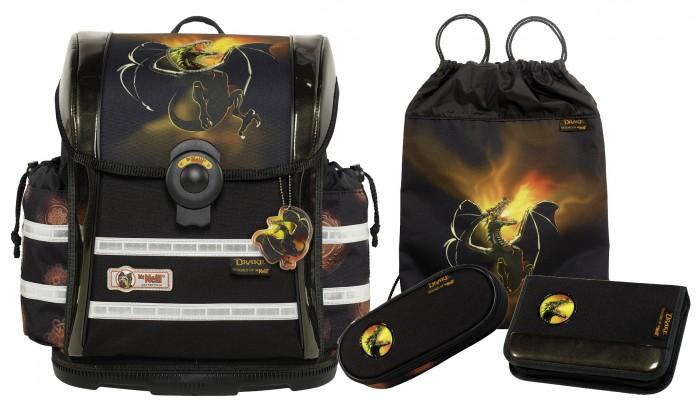 Школьные рюкзаки Thorka Школьный рюкзак MC Neill ERGO Light 912 S Дракон 4 предмета mc neill пенал овальныйl гринтрак цвет зеленый