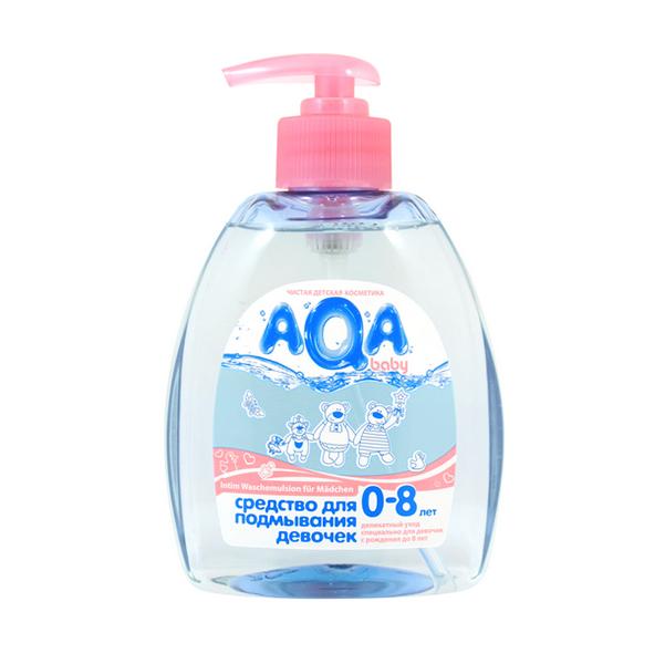 Косметика для новорожденных AQA baby Средство для подмывания девочек 300 мл