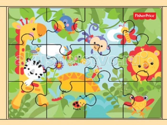 Деревянная игрушка Fisher Price Пазл 3 в 1