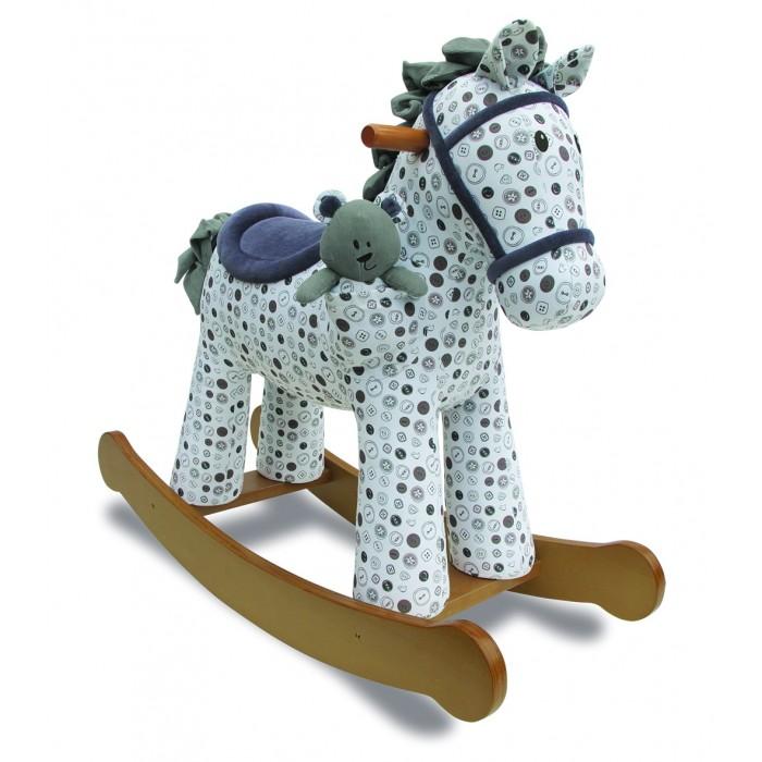Качалка Little Bird Told Me Лошадка ДиланЛошадка ДиланКачалка Little Bird Told Me Лошадка Дилан   Туловище лошадки выполнено из стильной цветной ткани, а грива и хвостик - из очень мягкой искусственной замши. В комплекте к лошадке прилагается мягкая игрушка Мишка. Высота сидения 46 см.<br>