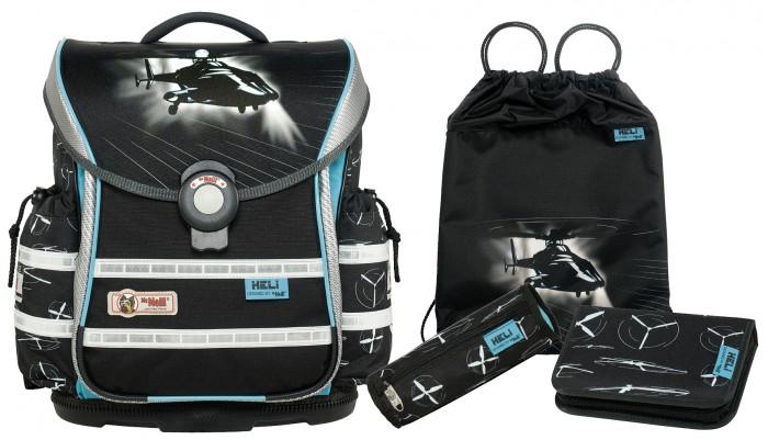 Школьные рюкзаки Thorka Школьный рюкзак MC Neill ERGO Light PLUS Вертолет 4 предмета mc neill пенал овальныйl гринтрак цвет зеленый