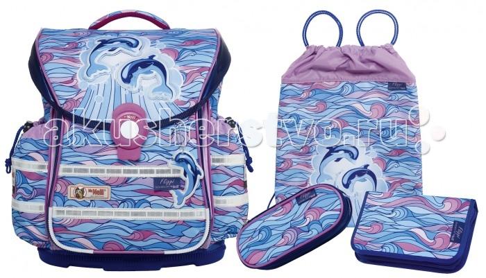 Школьные рюкзаки Thorka Школьный рюкзак MC Neill ERGO Light PLUS Дельфины 4 предмета mc neill пенал овальныйl гринтрак цвет зеленый