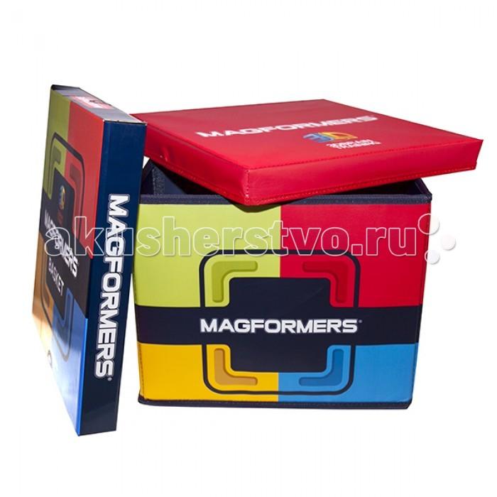 Конструктор Magformers Box (коробка для хранения) 60100Box (коробка для хранения) 60100Коробка для хранения магнитного конструктора Magformers 60100 Box.  Вы не знаете, где хранить ваш любимый конструктор? Есть отличное решение — фирменный Magformers Box!  Magformers Box имеет два отсека для хранения различных деталей конструктора и карман для книги идей, тематических карт или фотографий Ваших построек.  Надежный корпус так прочен, что может послужить даже детским стульчиком.  Размеры (дхшхв): 31 х 31 х 24 см<br>