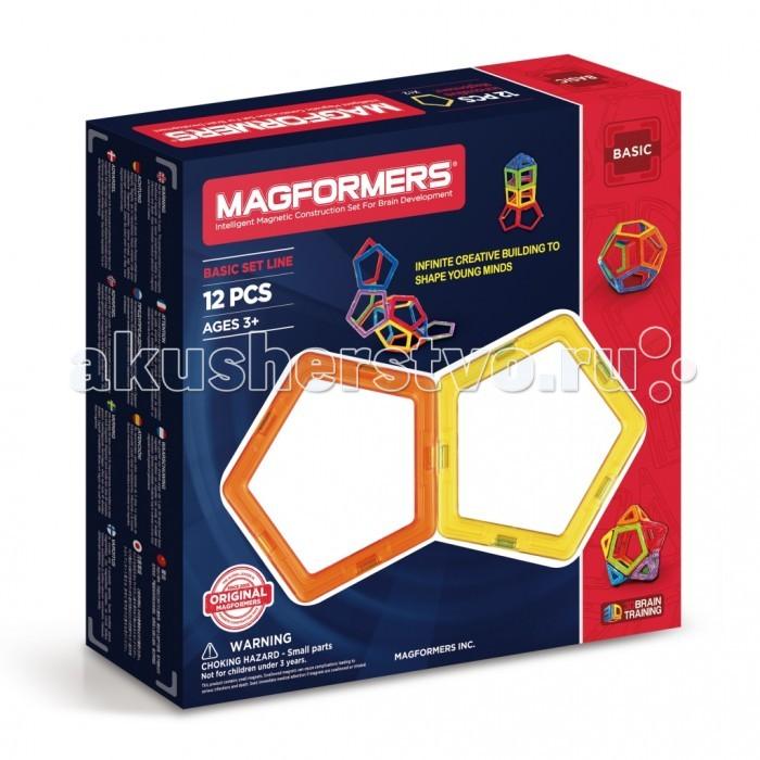 Конструктор Magformers Магнитный 12 63071Магнитный 12 63071Магнитный конструктор Magformers 12 состоит из 12 ярких, разноцветных пятиугольников, с помощью которых можно придумывать и делать сложные конструкции. Они незаменимы для создания сложных, больших шаров.   Также этот набор станет палочкой-выручалочкой для тех, кому интересно создавать необычные машины и нестандартные башни. Для любителей тематики космоса также подойдет этот набор, ведь при помощи него вы сможете создать ракету, межгалактический шаттл или космическую станцию.  Все детали этого набора совместимы с другими наборами Magformers, это позволяет делать очень интересные комбинации.  Магнитный конструктор Magformers относится к категории лучших развивающих игрушек для малышей и детей постарше. Это необыкновенный конструктор, который ценится своим многообразием и качеством материала. Детали магнитного конструктора Magformers сделаны из высококачественного пластика, который является абсолютно безопасным даже для самых маленьких строителей.  С каждой стороны фигуры магнитного конструктора Magformers внутри есть специальный магнит, благодаря которому детали конструктора могут соединяться между собой. Держатся детали довольно крепко, созданную конструкцию можно поднять за верхушку.  Magformers — лучшая трехмерная игрушка для развития воображения, пространственного мышления и общих мыслительных способностей. Дети могут превращать плоские предметы в объёмные, изучать принципы магнетизма.  Набор Magformers 12 содержит 12 деталей: - 12 пятиугольников.  Материал: высококачественный пластик, магнит Размеры упаковки: 23 x 22 x 5 см Вес: 300 г Упаковка: картонная коробка.<br>
