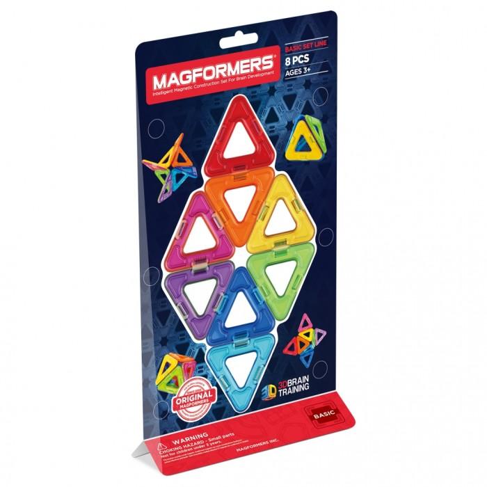 Конструкторы Magformers Магнитный Треугольники 8 63085 конструкторы magformers магнитный pastelle 14 63096