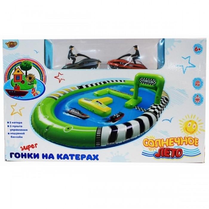 Veld CO Катера с бассейномКатера с бассейномVeld CO Катера с бассейном подарит массу радости и удовольствия Вашему ребёнку.  Особенности: В наборе: 2 р/у гидроцикла, надувной бассейн.  Размер бассейна: 120х90 см.  Насос в комплект поставки не входит.  Питание: 1хААА (нет в комплекте).  В пульт управления устанавливается 4хАА батарейки (нет в комплекте). Используемая частота: 27 MHz.   Размеры гидроциклов: 11х5х7 см.   Скорость при использовании свежих элементов питания - примерно 3 км в час (в зависимости от качества используемых батарей).  4 канала.  Пульт управления с телескопической антенной.  Дальность использования пульта управления - 12-15 метров.<br>