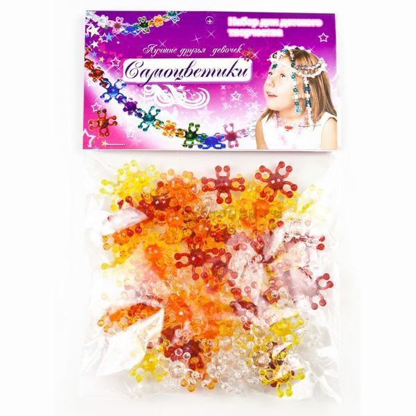 Наборы для создания украшений Биплант Самоцветики в пакете №1 (красный)