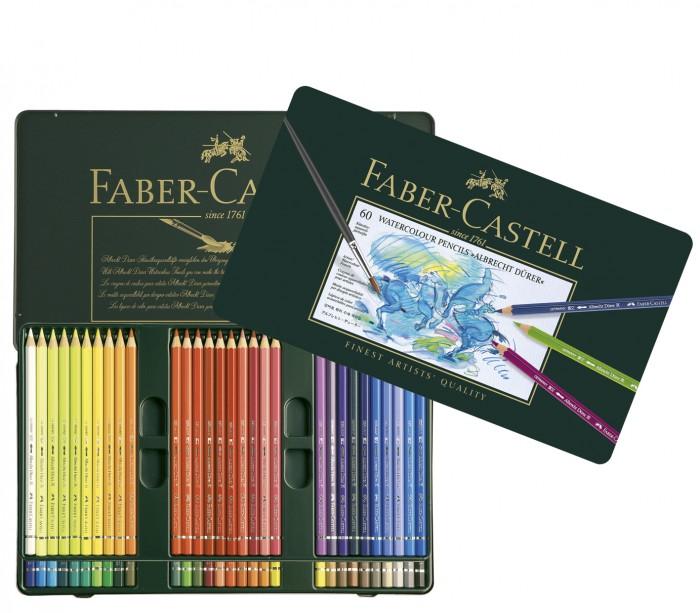 Faber-Castell Акварельные карандаши в металлической коробке 60 шт.Акварельные карандаши в металлической коробке 60 шт.Faber-Castell Акварельные карандаши в металлической коробке 60 шт. - профессиональные, наивысшего качества.   Высококачественные пигменты гарантируют устойчивость к выцветанию, выразительный цвет.   Толщина грифеля 3,8 мм<br>