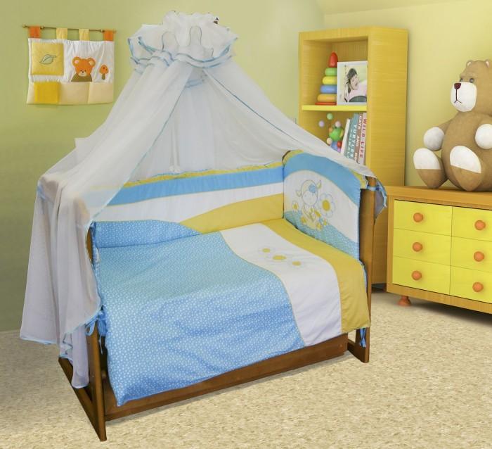 Постельные принадлежности , Комплекты в кроватку Soni Kids Ласковая овечка (7 предметов) арт: 36429 -  Комплекты в кроватку