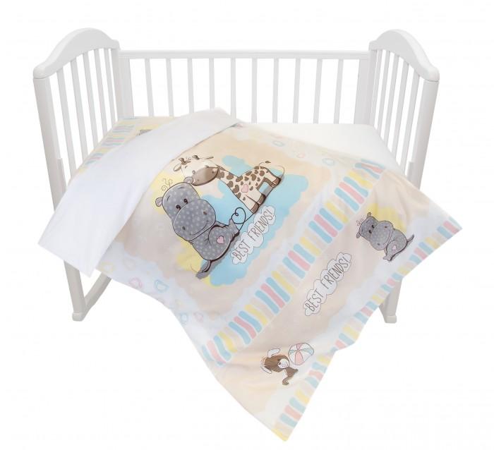 Постельные принадлежности , Постельное белье Baby Nice (ОТК) Лучшие друзья (3 предмета) арт: 364332 -  Постельное белье