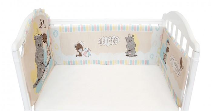Постельные принадлежности , Бортики в кроватку Baby Nice (ОТК) Лучшие друзья арт: 364347 -  Бортики в кроватку