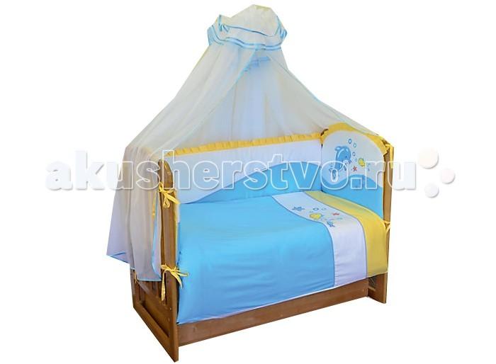 Фото - Комплекты в кроватку Soni Kids По волнам (7 предметов) комплекты в кроватку soni kids солнечные мишки 7 предметов