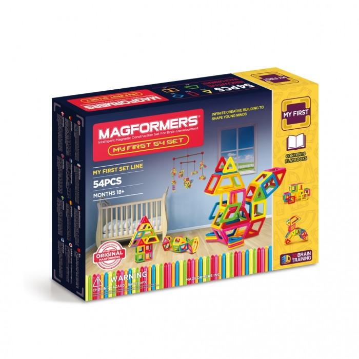 Картинка для Конструктор Magformers Магнитный My First 54 63108