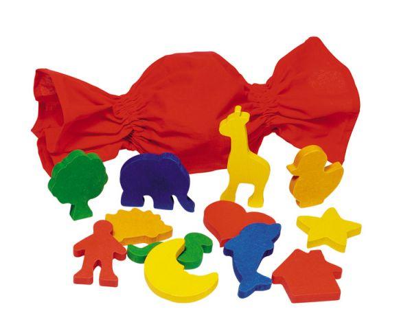 Игры для малышей Goki Игра Мemo сенсорная Формы в мешочке Cause, Игры для малышей - артикул:36483