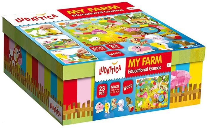 Настольные игры Ludattica Игра настольная Моя ферма (3 в 1) 57955
