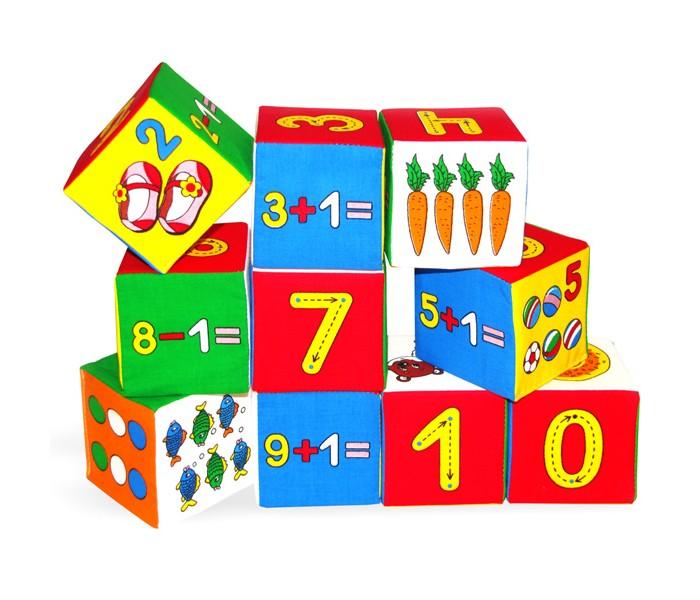 Купить Развивающие игрушки, Развивающая игрушка Мякиши Кубики Умная математика 10 шт.