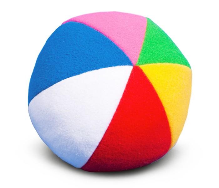 Мягкие игрушки Мякиши Мяч с погремушкой Радуга 9 см цена
