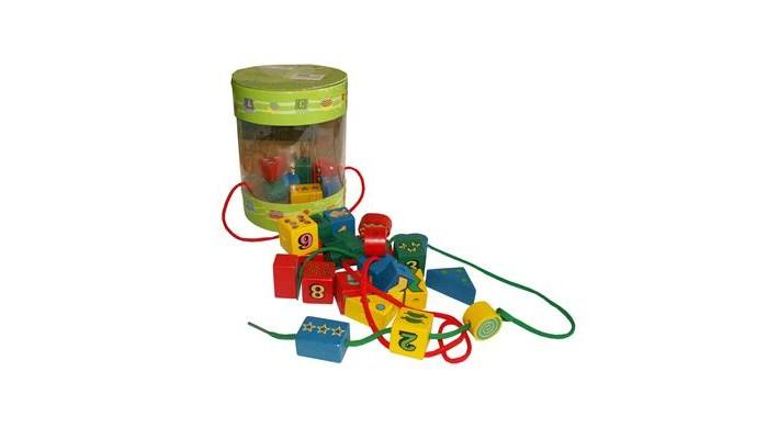 Деревянные игрушки QiQu Wooden Toy Factory Шнуровка-бусы Цветные Фигур бусы из хрусталя россыпи 3