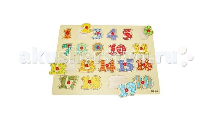 Пазлы QiQu Wooden Toy Factory Пазл-вкладыш Цифры 1 пазлы бомик вкладыш бабочки
