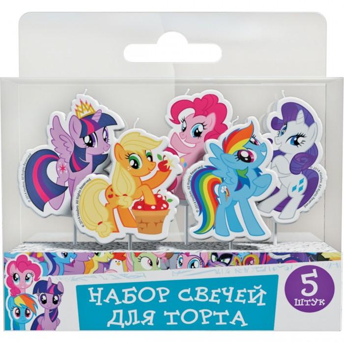Товары для праздника Май Литл Пони (My Little Pony) Набор свечей на палочках 5 шт. 4 май петс заколка бирюзовая для собак 4 my pets 1 шт page 5