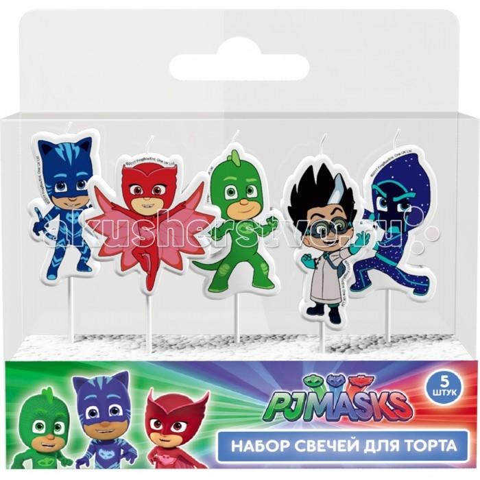 Товары для праздника Герои в масках (PJ Masks) Набор свечей на палочках 5 шт. оборудование для производство свечей в украине