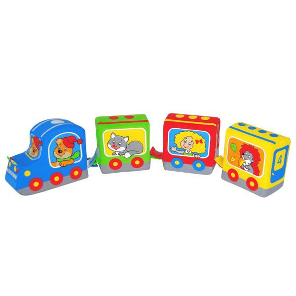 Развивающие игрушки Мякиши Паровозик Времена года