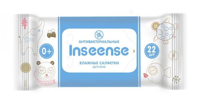 Салфетки Inseense Салфетки  влажные для детей антибактериальные 22 шт. smile салфетки влажные special 15 шт антибактериальные с подорожником