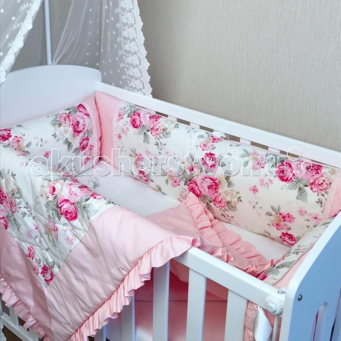 Постельные принадлежности , Комплекты в кроватку Mummys Hugs Цветы (7 предметов) арт: 367028 -  Комплекты в кроватку