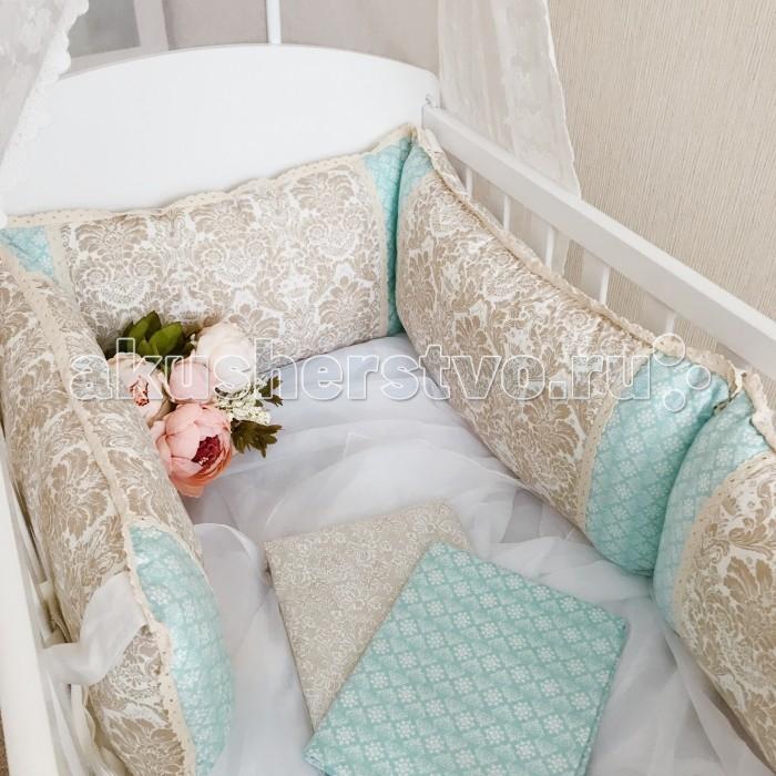 Постельные принадлежности , Комплекты в кроватку Mummys Hugs c кружевом (8 предметов) арт: 367038 -  Комплекты в кроватку