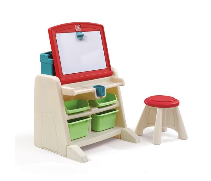 Step 2 Парта для детей Маленький генийПарта для детей Маленький генийЭта парта замечательное рабочее место для вашего ребенка! Удобная и функциональная парта поможет разместить много своих принадлежностей. Можно рисовать, играть и обучаться. Прочная безопасная конструкция. Прослужит долгие годы. Особенность сдвоенного дизайна, заключается в том, что в вертикальном положении он представляет рабочую поверхность для рисования, а в горизонтальном - поверхность для письма.  Характеристики: изготовлена из высококачественного прочного пластика подходит для детей от 2 лет оригинальный дизайн товар сертифицирован устойчивая безопасная конструкция обтекаемая форма, без острых углов  столик со встроенными отделениями для хранения принадлежностей стакан для воды или маркеров клипсы для крепления бумаги 2 больших и 4 средних ящика для хранения различных принадлежностей сверху полочка для хранения карандашей, клея и т.д. к парте прилагается 1 табурет парта легко моется при установке требуется минимальное участие взрослых прочная конструкция прослужит вашим детям долгие годы   Размеры(дхшхв) 48.3x60.3x66 см Вес 9.5 кг<br>