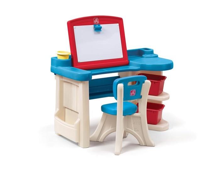 Step 2 Парта для детей Арт СтудияПарта для детей Арт СтудияЭта парта замечательное рабочее место для вашего ребенка! Удобная и функциональная парта поможет разместить много своих принадлежностей. Можно рисовать, играть и обучаться. Прочная безопасная конструкция. Прослужит долгие годы.  Характеристики: изготовлена из высококачественного прочного пластика подходит для детей от 3 лет оригинальный дизайн товар сертифицирован устойчивая безопасная конструкция обтекаемая форма, без острых углов  два в одном - студия для рисования + стол для развития большие боковые ящики для хранения рисунков, книг, бумаги и т.д. большая рабочая поверхность 33 х 51 см 2 больших контейнера для хранения красок, ножниц, клея и т.д. отделения для стаканов под фломастеры, кисточки, карандаши и т.д к парте прилагается 1 стул парта легко моется при установке требуется минимальное участие взрослых прочная конструкция прослужит вашим детям долгие годы   Размеры(дхшхв) 96.5x40.6x91.4 см Вес 12 кг<br>