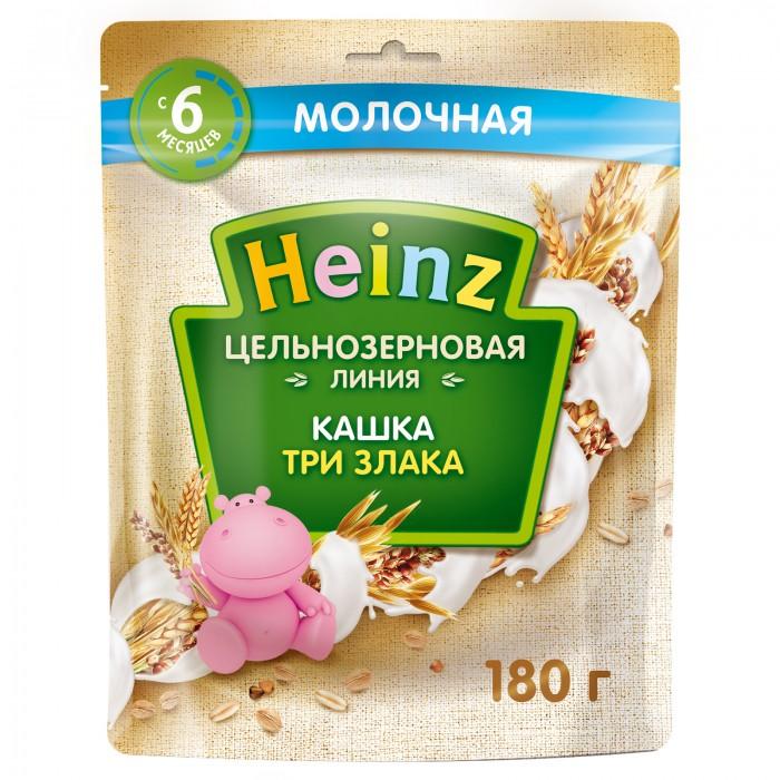Каши Heinz Каша молочная цельнозерновая три злака с 6 мес. 180 г (пауч) мука пшеничная цельнозерновая аривера