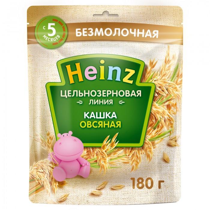 Каши Heinz Каша цельнозерновая овсяная с 5 мес. 180 г (пауч) каша безмолочная heinz первая овсяная с 5 мес 180 г