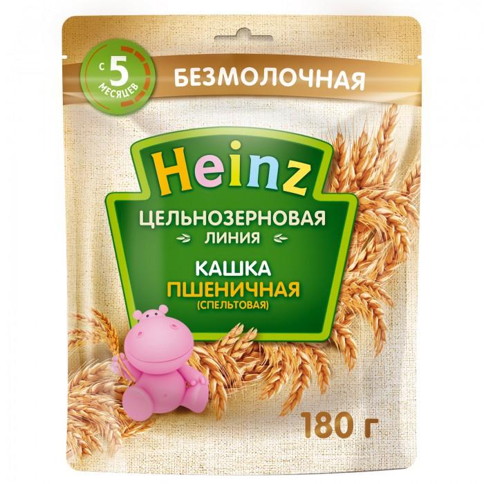 Каши Heinz Каша цельнозерновая пшеничная (спельтовая) с 5 мес. 180 г (пауч) пудовъ мука пшеничная обойная цельнозерновая 1 кг