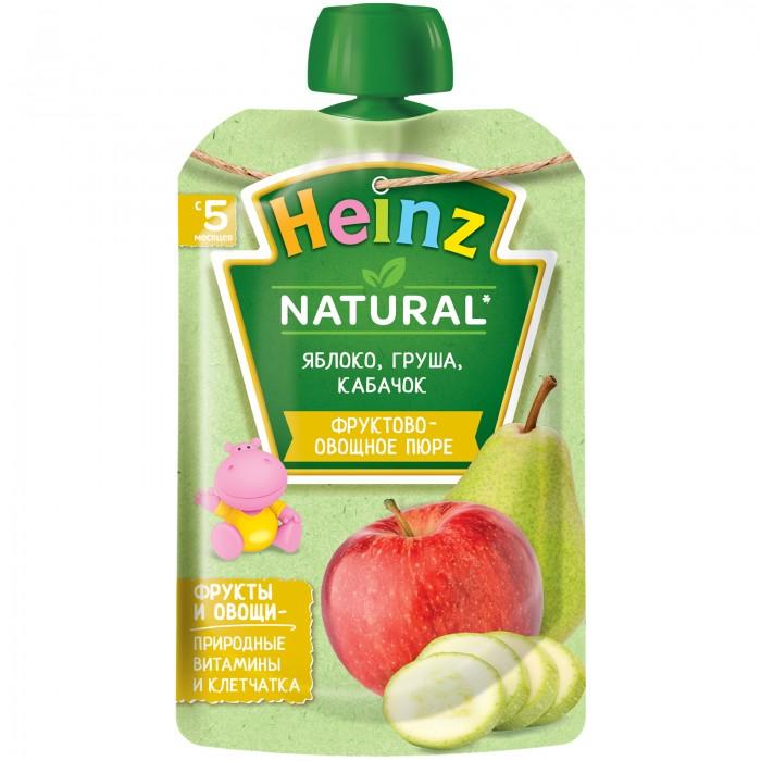 Пюре Heinz Пюре яблоко, груша, кабачок с 5 мес. 90 г (пауч) parmalat молоко ультрапастеризованное 3 5% 0 2 л