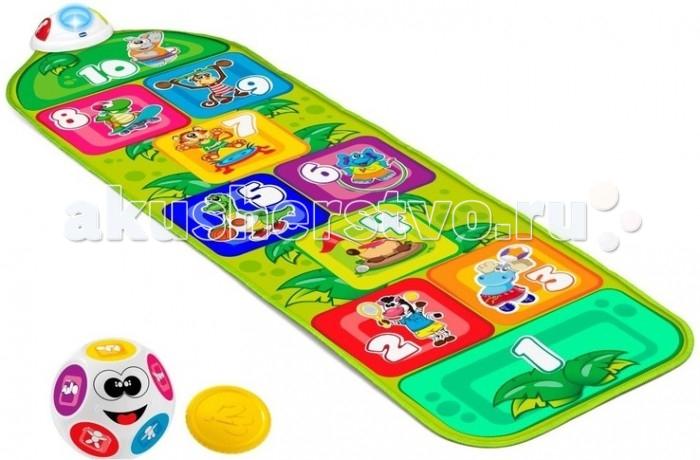 Игровой коврик Chicco Музыкальный КлассикиМузыкальный КлассикиChicco Музыкальный коврик Классики- электронный игровой коврик с изображением забавных животных.  Когда ребенок прыгает на квадрат, активируются звуковые и световые эффекты. Игра способствует развитию ловкости и моторных навыков.   Существует 2 режима игры в соответствии с возрастом ребенка: Режим 1 - Игра Классики: брось монетку и смотри, на какой квадрат нужно прыгнуть. Слушай звуки и мелодии, угадывай животных. Режим 2 - Выполняй упражнения: брось шарик и узнай.<br>
