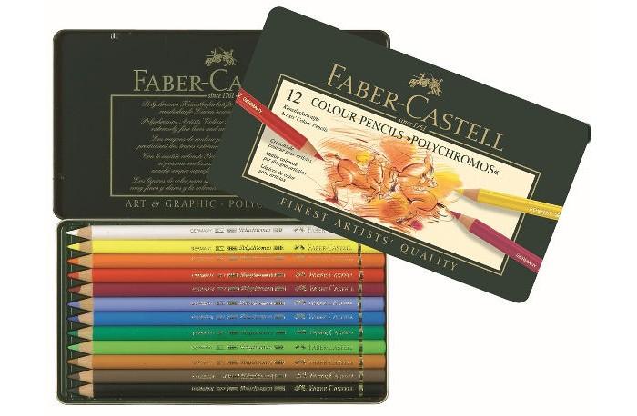 Faber-Castell Цветные карандаши Polychromos набор цветов 12 шт. от Faber-Castell