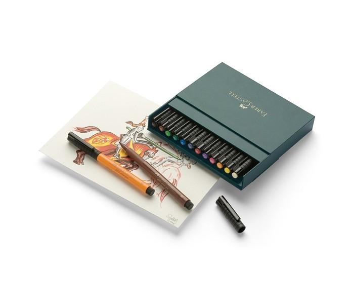 Развитие и школа , Канцелярия Faber-Castell Капиллярные ручки PITT artist pen 12 шт. арт: 368593 -  Канцелярия