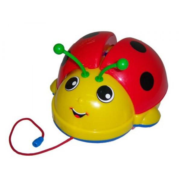 Каталка-игрушка Molto на веревочке Божья коровка 09376