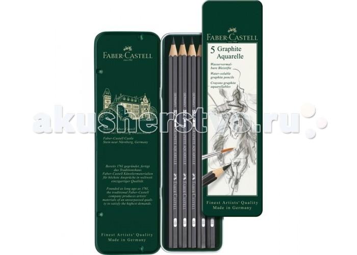 Карандаши, восковые мелки, пастель Faber-Castell Чернографитовый карандаш Castell 9000 5 шт.