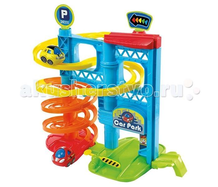 Playgo Многоэтажная парковкаМногоэтажная парковкаМногоэтажная парковка с лифтом и 2-я машинками.   Больше уровней, больше удовольствия!  2 машинки в комплекте, простая сборка!   На каком этаже припаркуемся?  Игрушка изготовлена из высококачественных материалов.  Размер: 40 х 43 х 24 см<br>